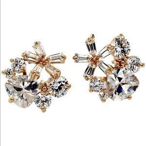 Sweety gold mini crystal earrings